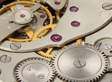 Mekanism av mekaniska klockor Arkivfoto