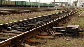 Mekanism för automatisk strömbrytare på järnvägen stock video