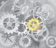 mekanism för kugghjulillustrationströmförsörjning stock illustrationer