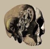 Mekanism för mänsklig hjärna stock illustrationer