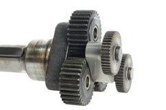 Mekanism med cog-wheels Arkivbilder