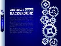 Mekanism med inbyggda kugghjul för affärspresentationer eller in stock illustrationer