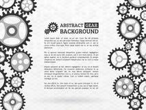 Mekanism med inbyggda kugghjul för affärspresentationer eller in vektor illustrationer