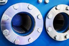 Mekanism och detaljer av pannor eller autoclaven arkivfoto