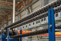 Mekanismen av den chain överföringen Lager drevaxel, G Royaltyfri Fotografi