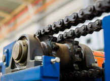 Mekanismen av den chain överföringen Lager drevaxel, G Royaltyfri Bild
