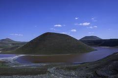 Meke Crater Lake. Beautiful view of the Meke crater lake in Turkey Stock Images