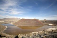 Meke crater lake Royalty Free Stock Photos