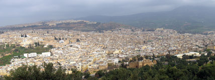 Mekenes skyline. View from the old medieval city of Mekenes, Morocco Stock Image