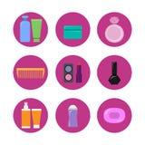 Mekeup ikony set Zdjęcia Royalty Free