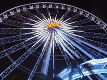 Mekhong Ferris Wheel. Taken in Bangkok, Thailand. Their famous and amazing ferris wheel at Asiatique Stock Photo