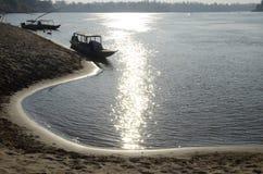 Mekhong River Beach royalty free stock photos