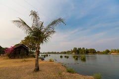 Mekhong river from Don Det. Mekhong river taken on Don Det island in south Laos. Landscape of nature on four thousands islands Si Phan Don on Mekhong river in stock image