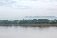 Mekhongrivier in Thailand Stock Afbeelding