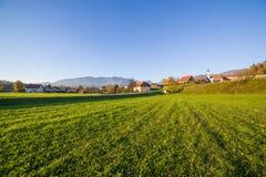 Mekinje sotto le alpi slovene Fotografie Stock