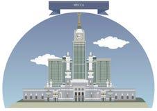 Mekka, Saudi-Arabië vector illustratie