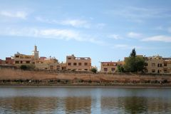 Meknes City. Panoramic view at part of Meknes town (Morocco Stock Photos