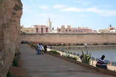 Meknes City. Panoramic view at part of Meknes town (Morocco Royalty Free Stock Photos