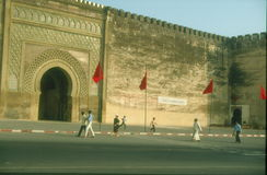 Meknes main gate Stock Photo