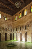 Meknes, Morocco - February 18, 2017: Classrooms of Bou Inania Madrasa. Islamic learning center Royalty Free Stock Images