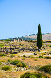 MEKNES, MOROCCO. JUNE 2, 2012: Roman ruins in Volubilis, UNESCO World Heritage Site. Volubilis is the best preserved Roman site in North Africa, featuring some Stock Image