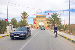 MEKNES,19 OCTOBER 2013: Decorative gate in Meknes, Morocco, Afri Royalty Free Stock Photo
