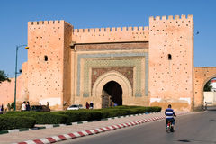 Meknes old city gate with traditional architecture - Morocco Royalty Free Stock Photography