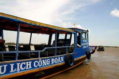 mekong βαρκών ποταμός Στοκ Εικόνα