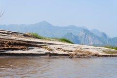 mekong πλευρά άμμου ποταμών Στοκ Φωτογραφία