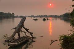 Mekong ποταμός στο Λάος Στοκ Εικόνες