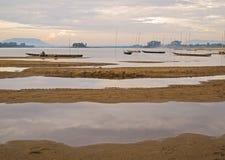 Mekong τοπίο ποταμών Στοκ Εικόνες