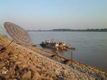 Mekong brzeg rzeki Obrazy Royalty Free