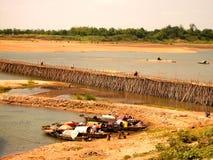 Mekong de Brug van het Bamboe royalty-vrije stock foto's