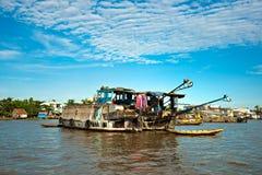 Mekong de delta, kan Tho, Vietnam Royalty-vrije Stock Foto's