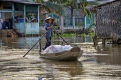 Mekong de delta, kan Tho, Vietnam Royalty-vrije Stock Afbeeldingen