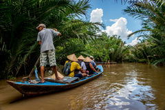 Mekong delta royalty-vrije stock afbeelding