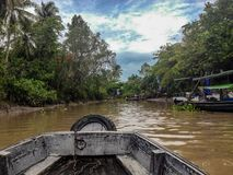 Mekong Delta boat ride, Vietnam stock photography
