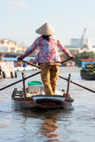 Mekong delta, Can Tho, Vietnam. Boats in a harbor in the Mekong delta, Can Tho, Vietnam Royalty Free Stock Photography