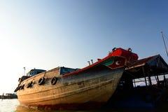 Mekong delta fishing boat. Long Xuyen. Vietnam Stock Image