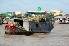 Mekong Delta Floating Market Royalty Free Stock Photography