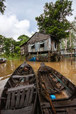 Mekong Delta. Floating village in the Mekong Delta Stock Photos