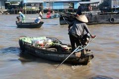 Mekong Delta het Drijven Markt Royalty-vrije Stock Afbeelding