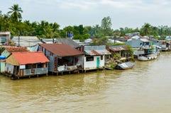 Mekong delta i Vietnam Arkivbild