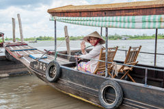 Mekong delta smile Stock Photography