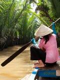 Mekong delta Vietnam Arkivfoto