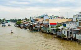 Mekong Delta in Vietnam stock images