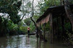 Mekong delta, Wietnam, rzeka Zdjęcia Stock