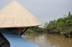 Mekong Deltarondvaart, Vietnam Royalty-vrije Stock Foto's