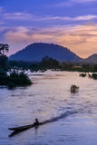 Mekong at dusk Stock Image