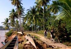 Mekong Eiland, Don Det royalty-vrije stock afbeeldingen